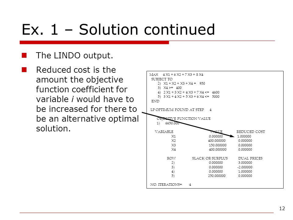 Ex. 1 – Solution continued