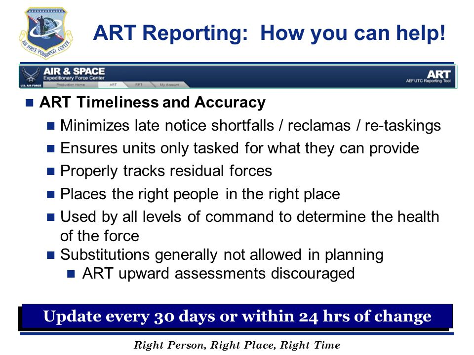 ART Reporting: How you can help!