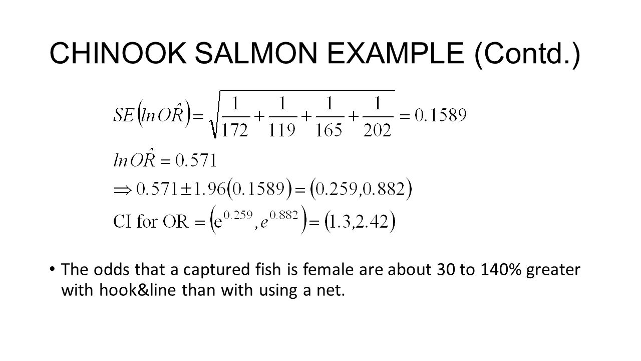 CHINOOK SALMON EXAMPLE (Contd.)
