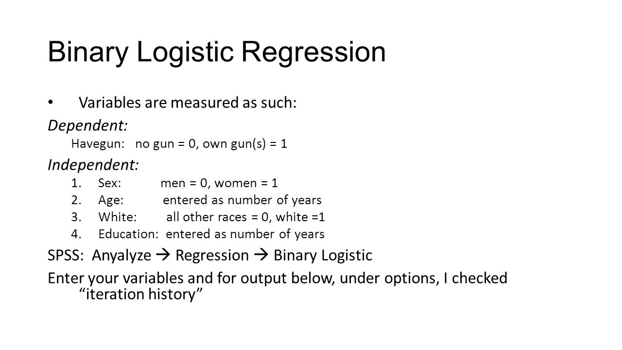 Binary Logistic Regression