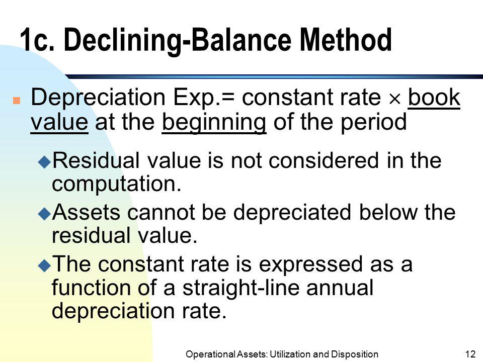 1c. Declining-Balance Method