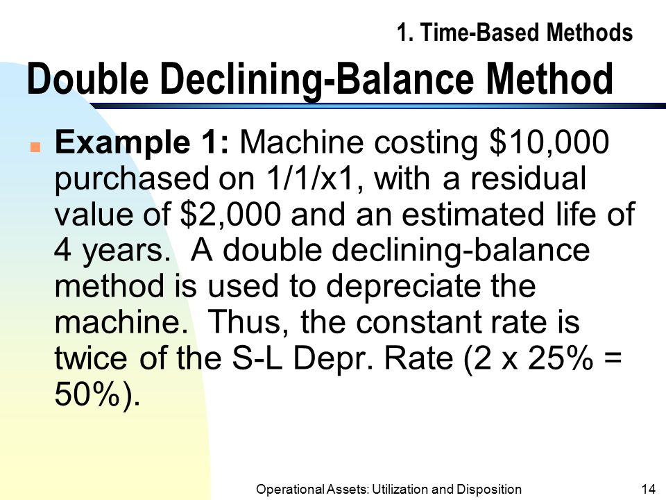 1. Time-Based Methods Double Declining-Balance Method