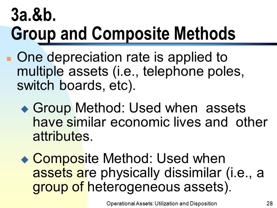 3a.&b. Group and Composite Methods