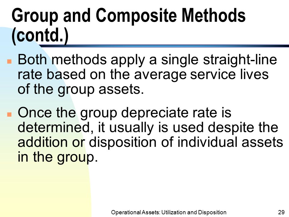 Group and Composite Methods (contd.)