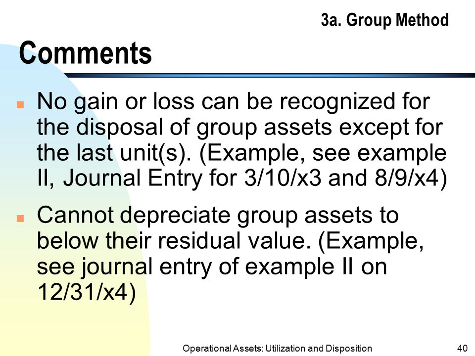 3a. Group Method Comments