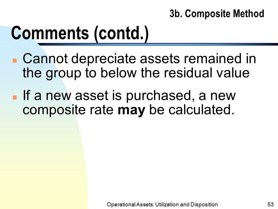 3b. Composite Method Comments (contd.)