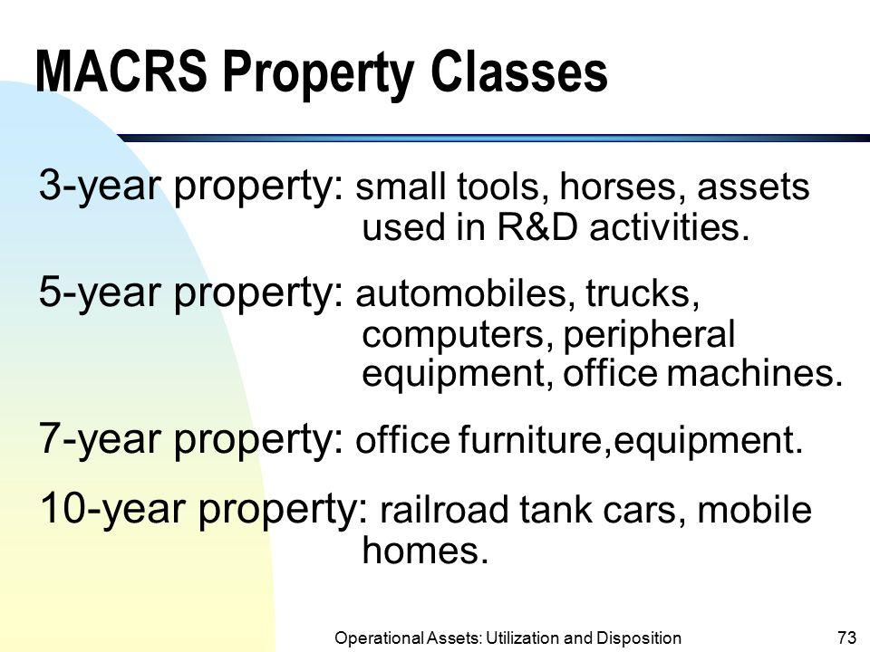 MACRS Property Classes
