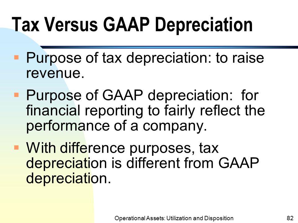 Tax Versus GAAP Depreciation