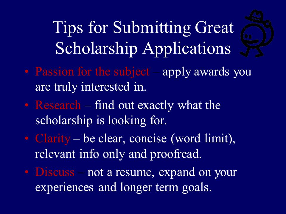 Tips for Submitting Great Scholarship Applications