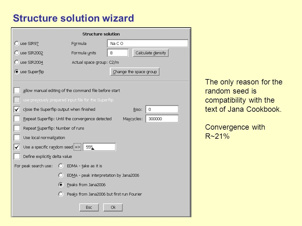 Structure solution wizard