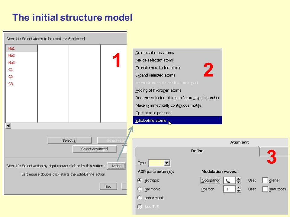 The initial structure model