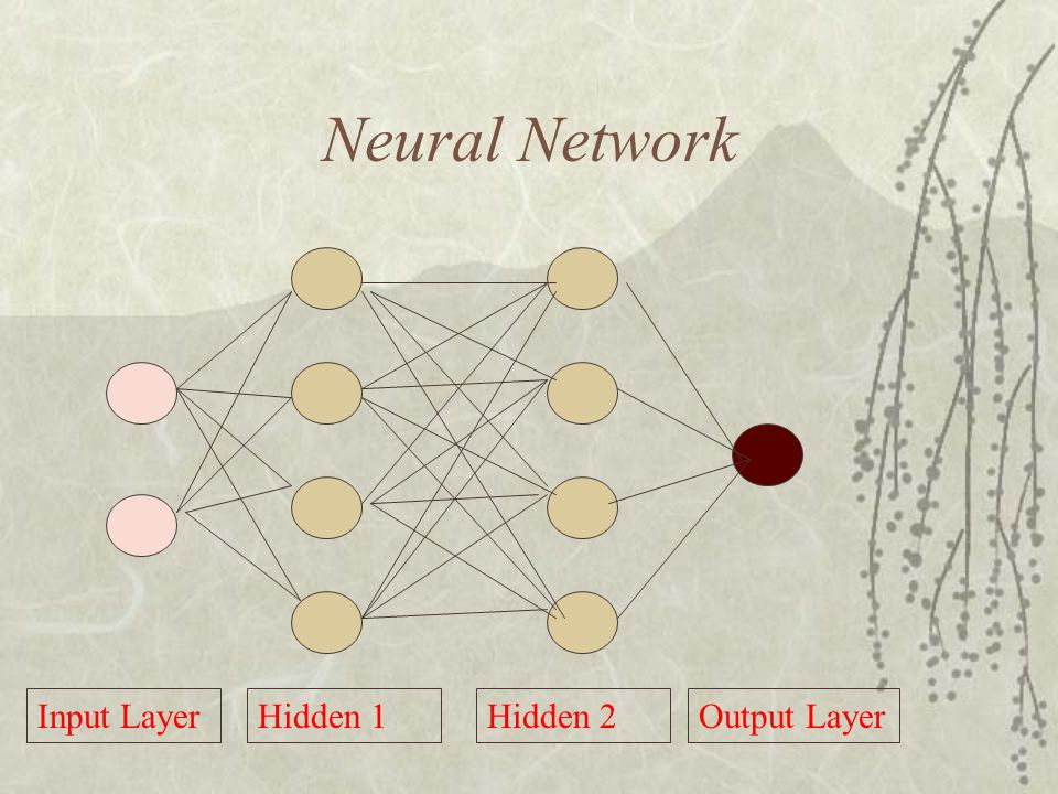 Neural Network Input Layer Hidden 1 Hidden 2 Output Layer