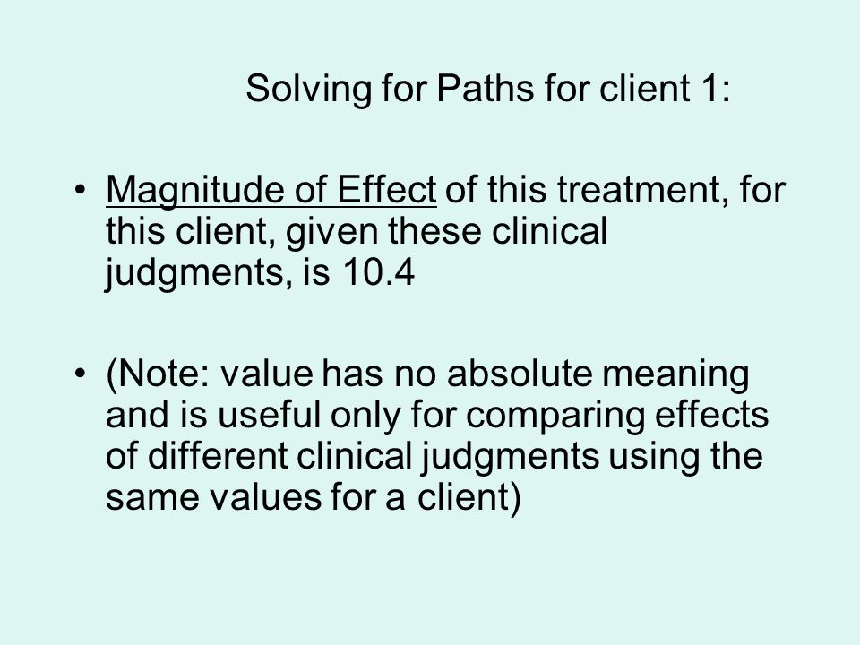 Solving for Paths for client 1: