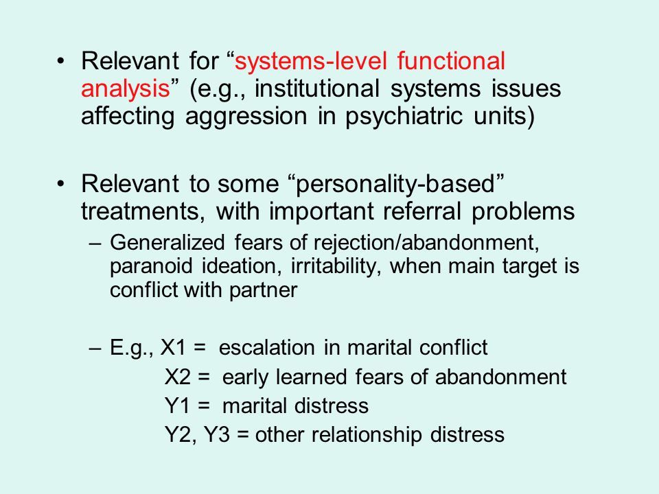 Relevant for systems-level functional analysis (e. g