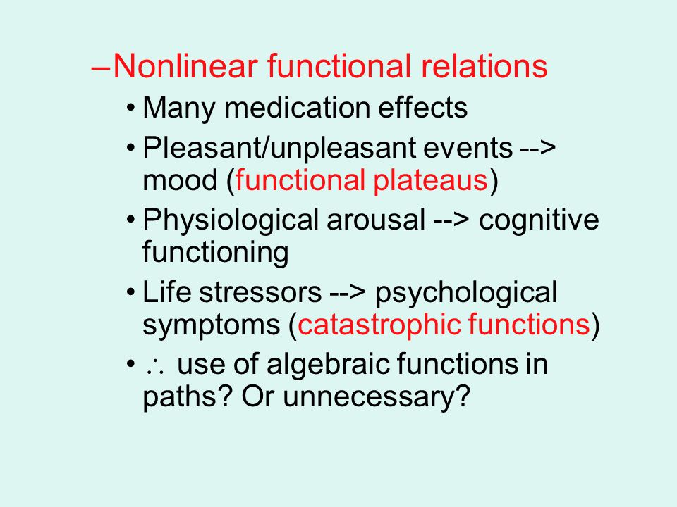 Nonlinear functional relations