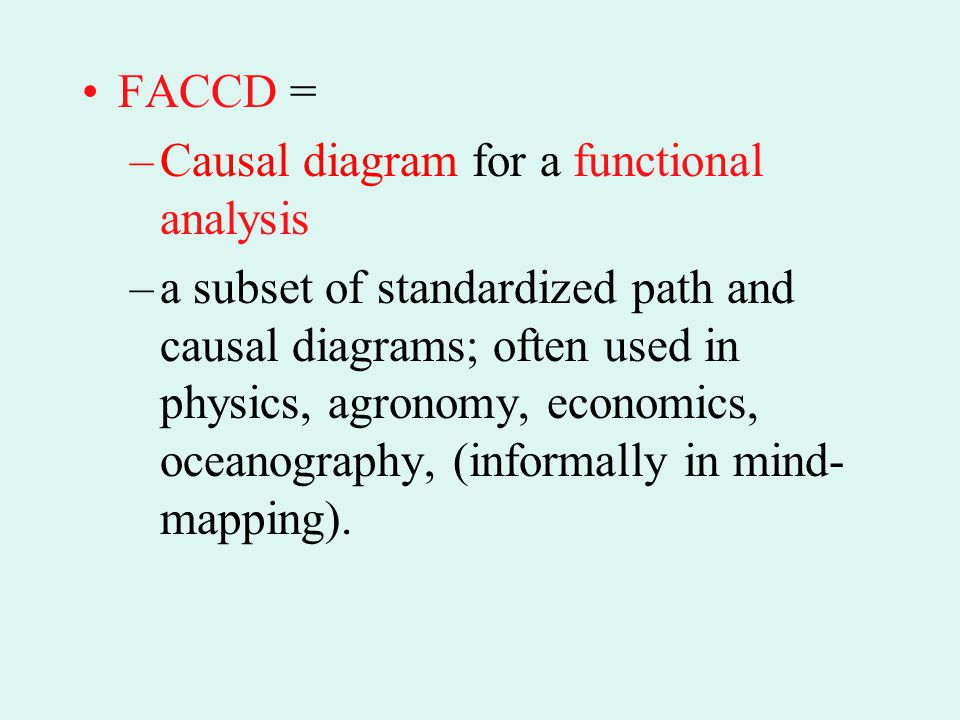 FACCD = Causal diagram for a functional analysis.