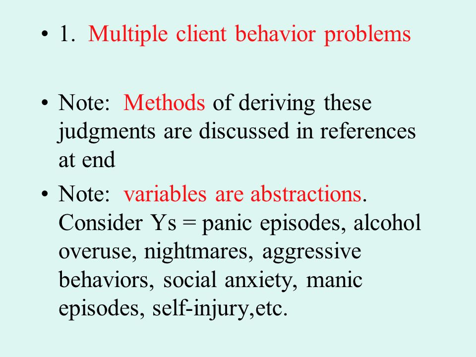 1. Multiple client behavior problems