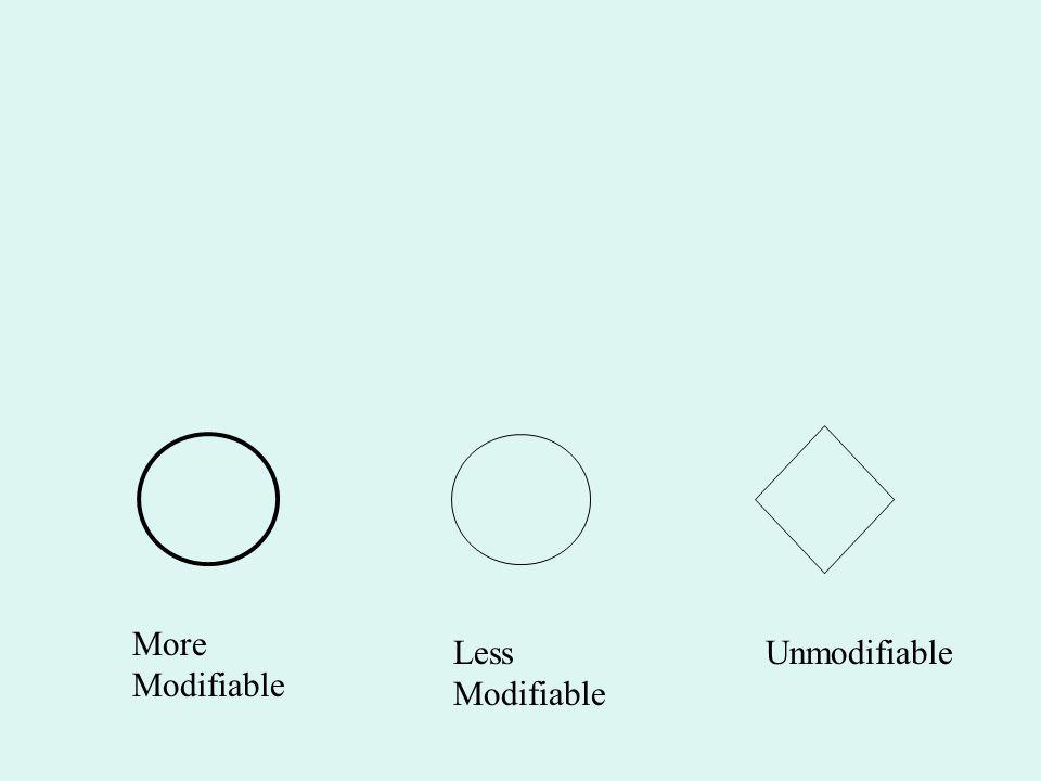 More Modifiable Less Modifiable Unmodifiable