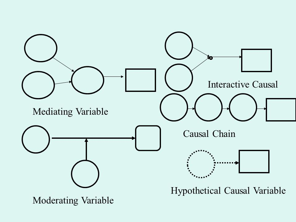 Interactive Causal Mediating Variable Causal Chain Hypothetical Causal Variable Moderating Variable