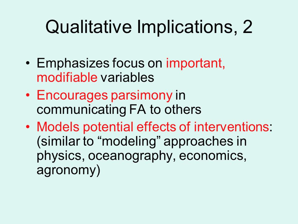Qualitative Implications, 2
