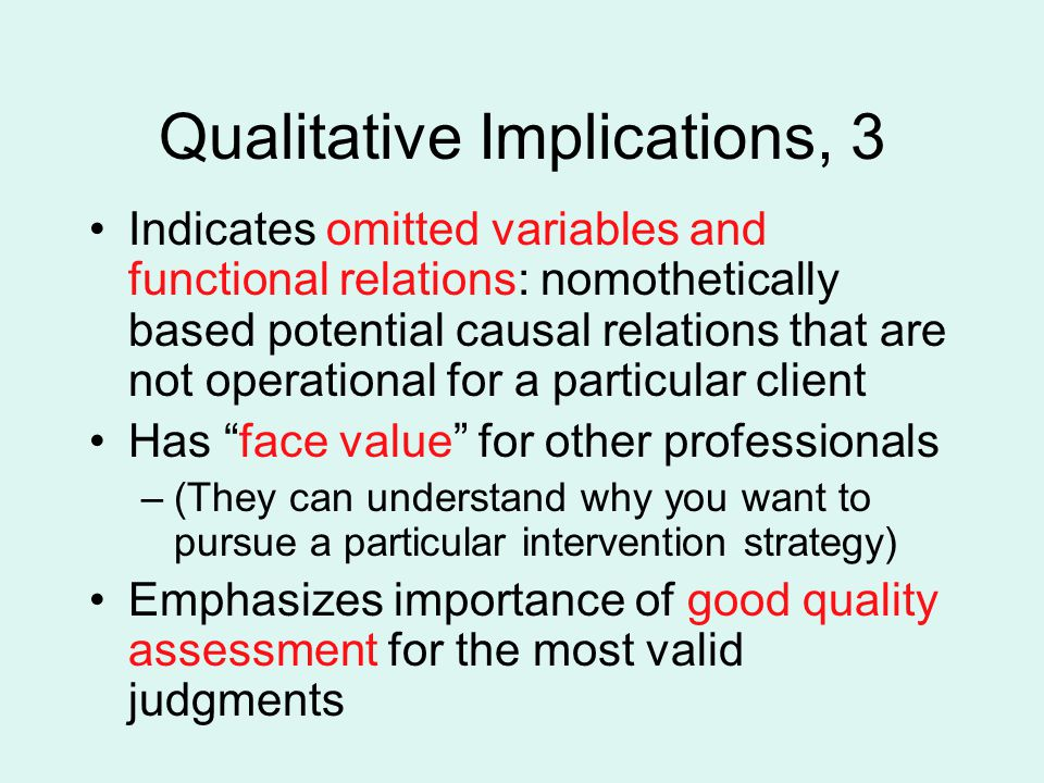 Qualitative Implications, 3