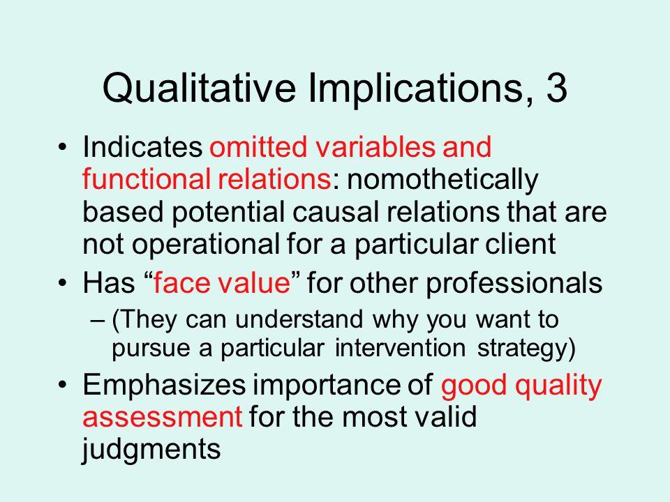Qualitative Implications, 3
