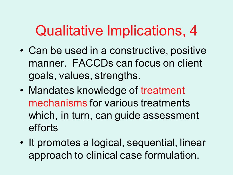 Qualitative Implications, 4