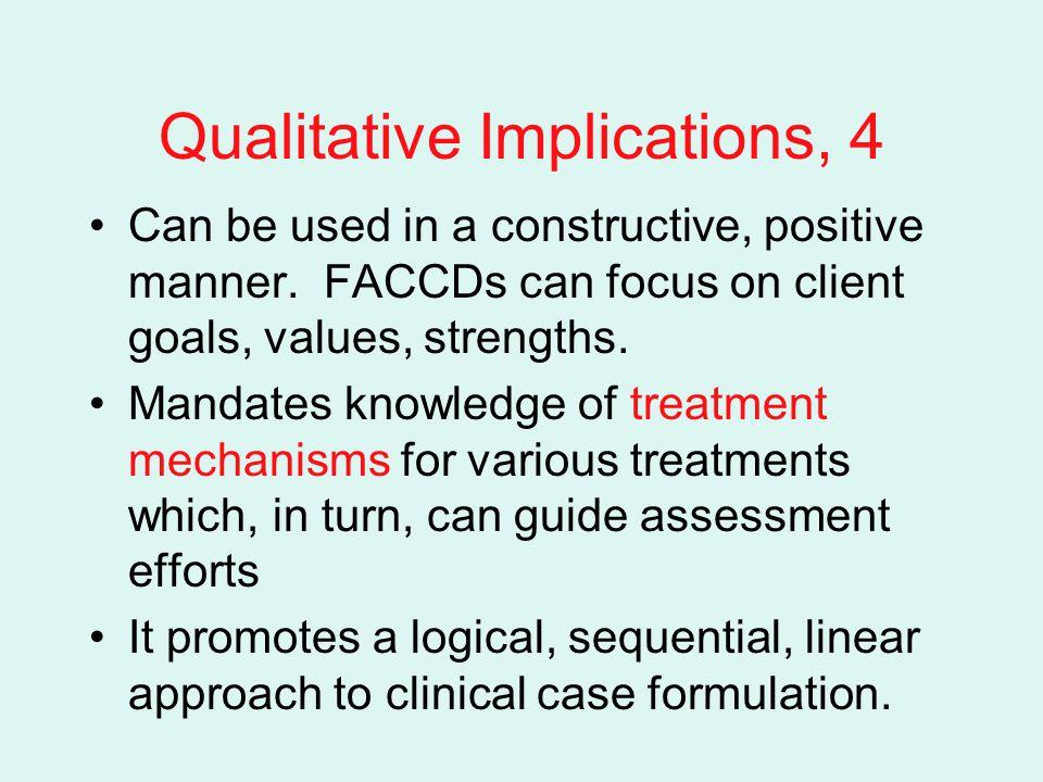 Qualitative Implications, 4