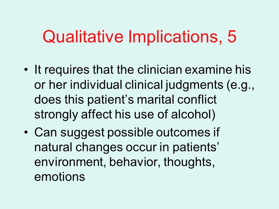 Qualitative Implications, 5