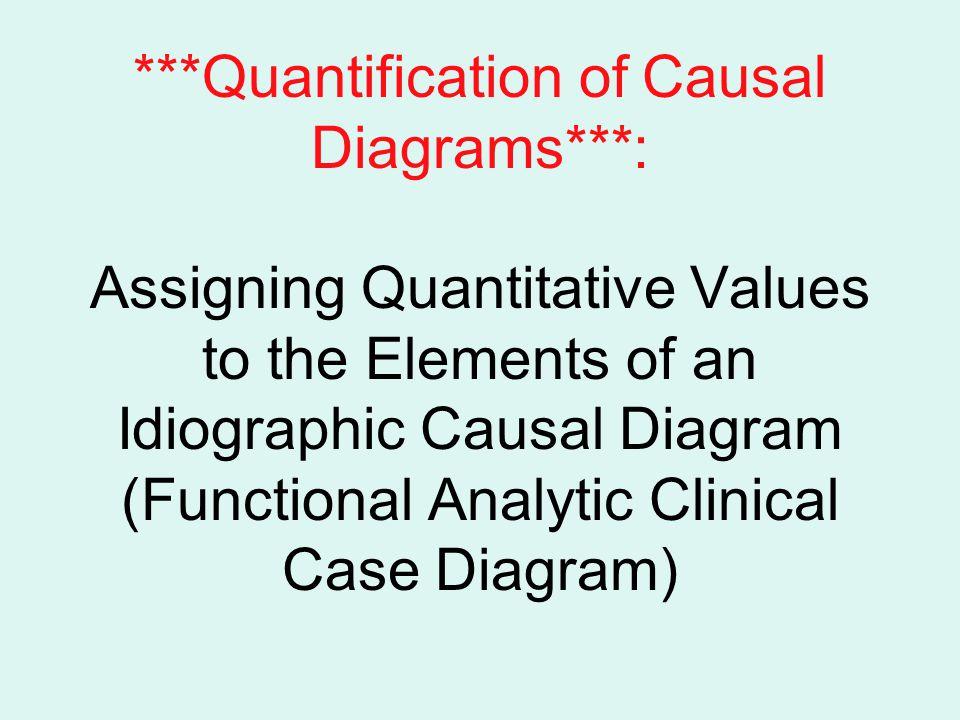 Quantification of Causal Diagrams