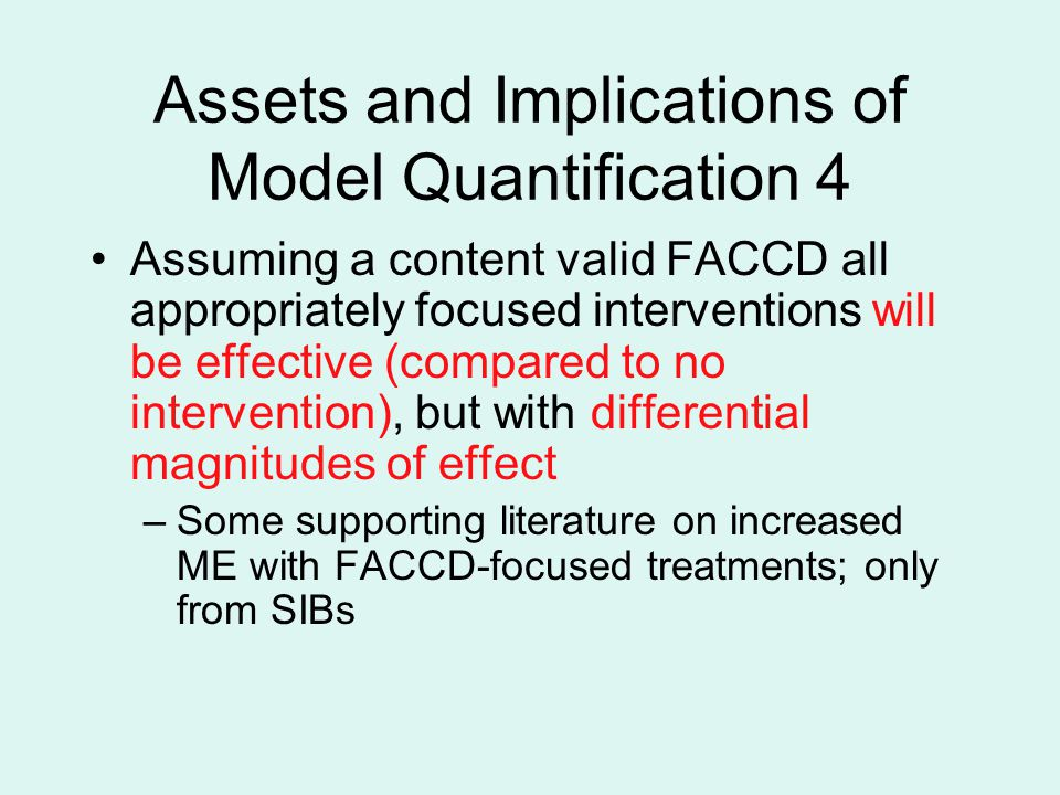 Assets and Implications of Model Quantification 4