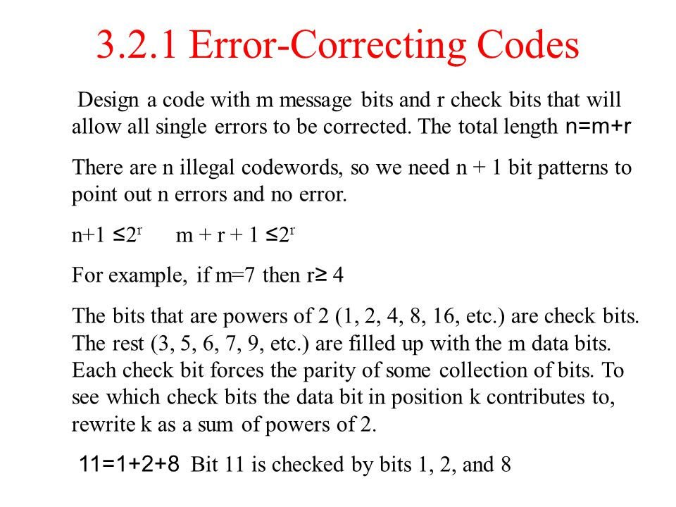 3.2.1 Error-Correcting Codes