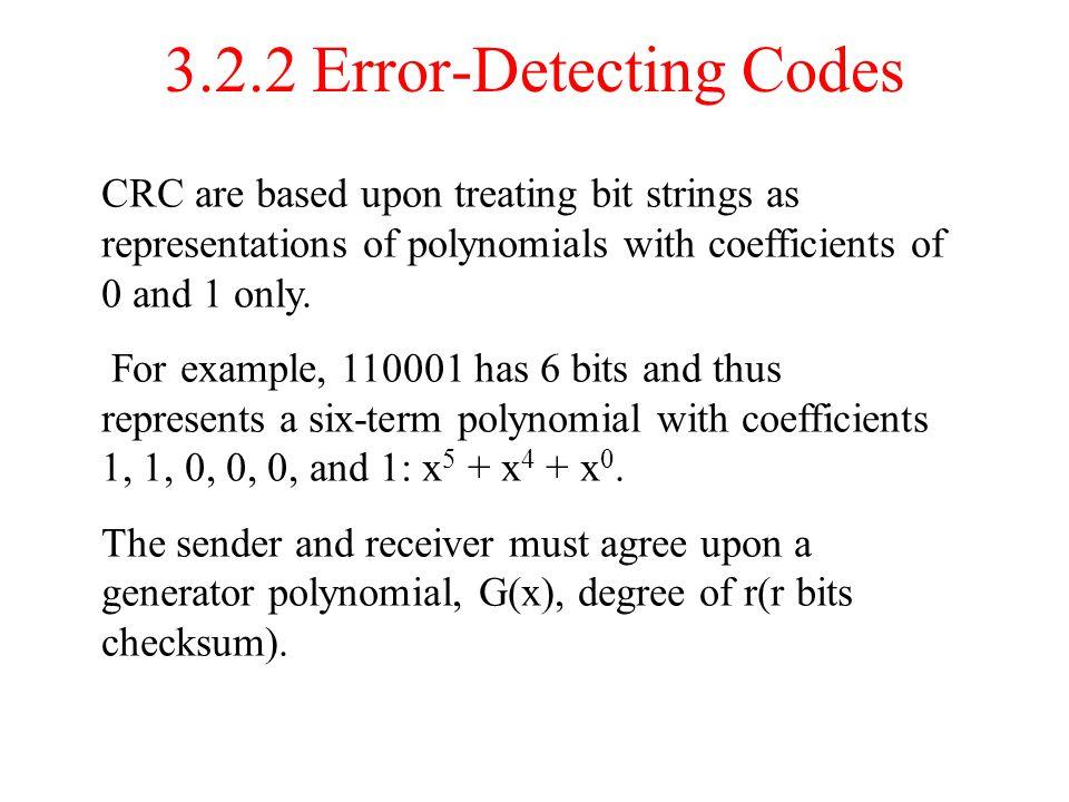 3.2.2 Error-Detecting Codes