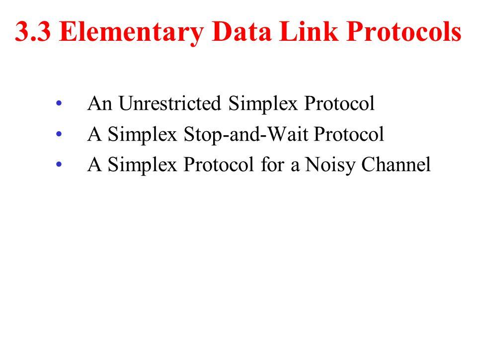 3.3 Elementary Data Link Protocols