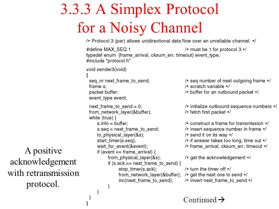 3.3.3 A Simplex Protocol for a Noisy Channel