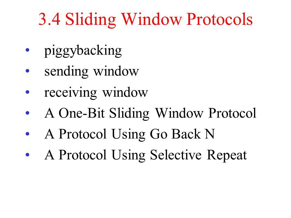 3.4 Sliding Window Protocols