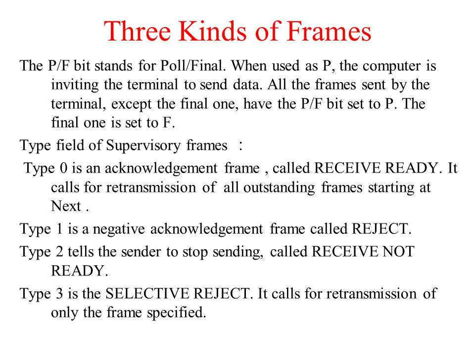 Three Kinds of Frames