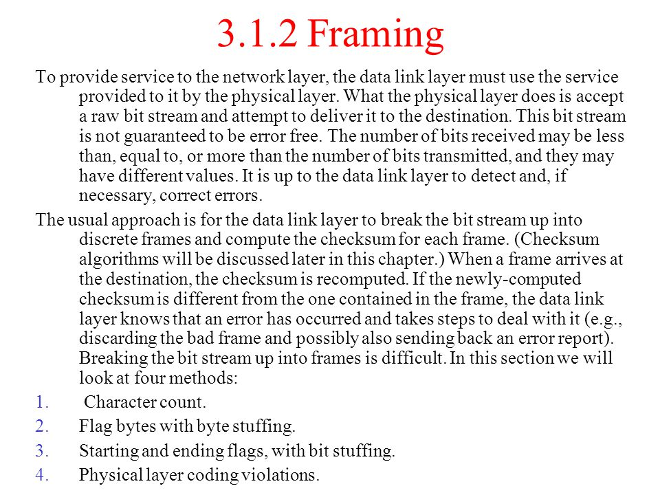 3.1.2 Framing
