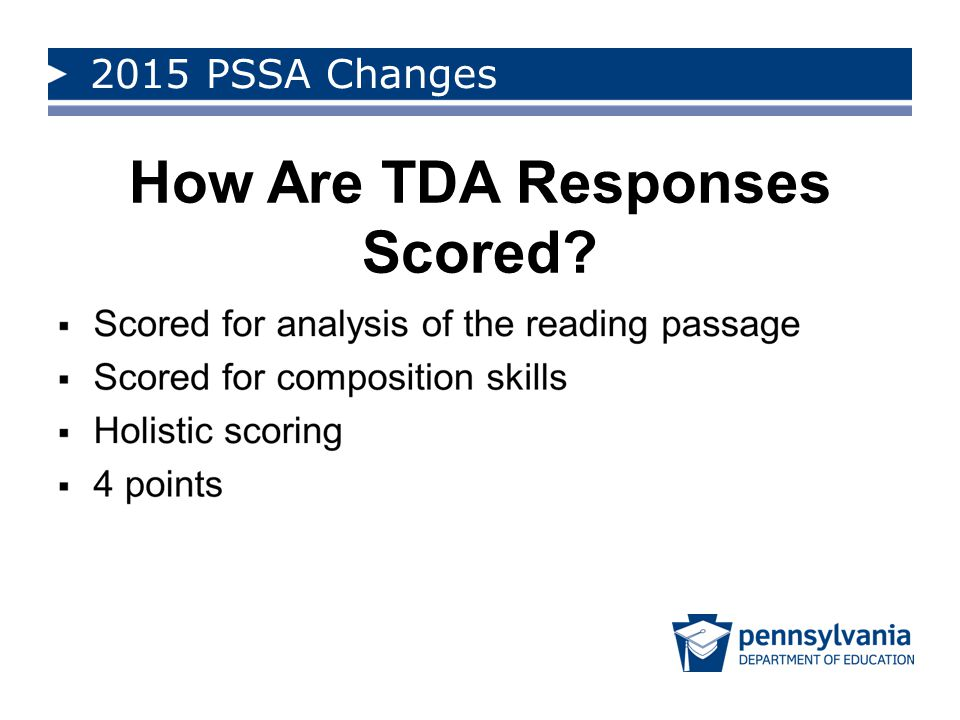 How Are TDA Responses Scored