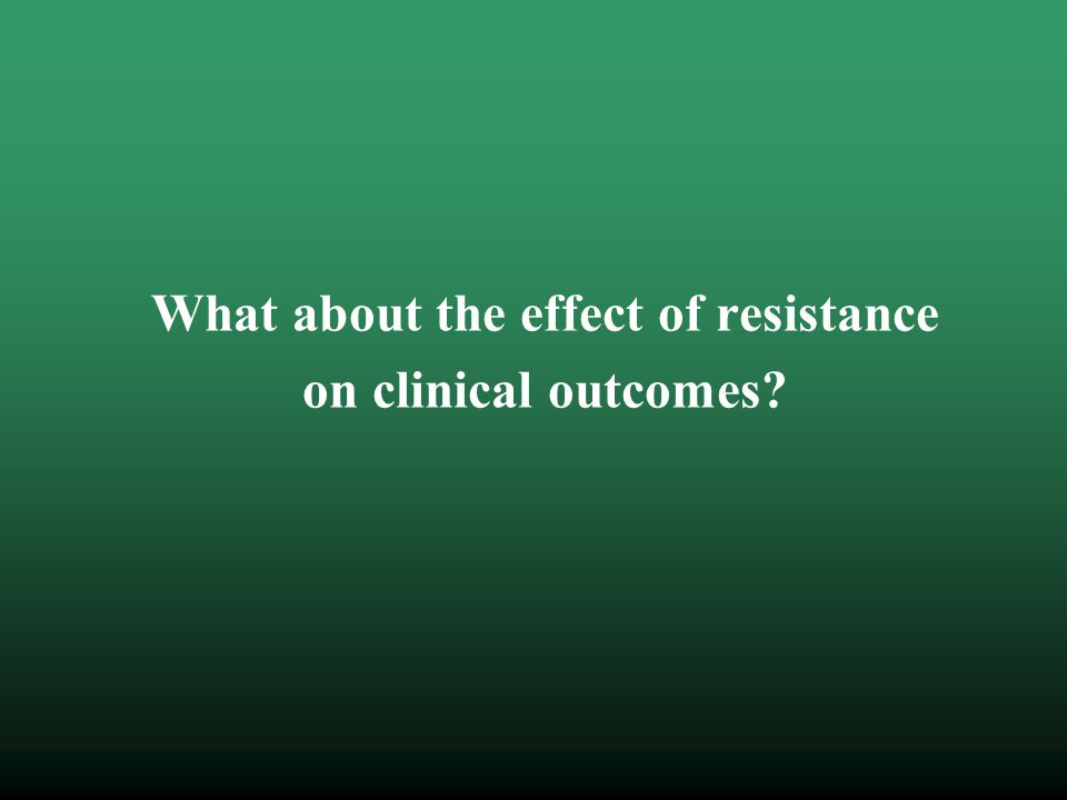 What about the effect of resistance