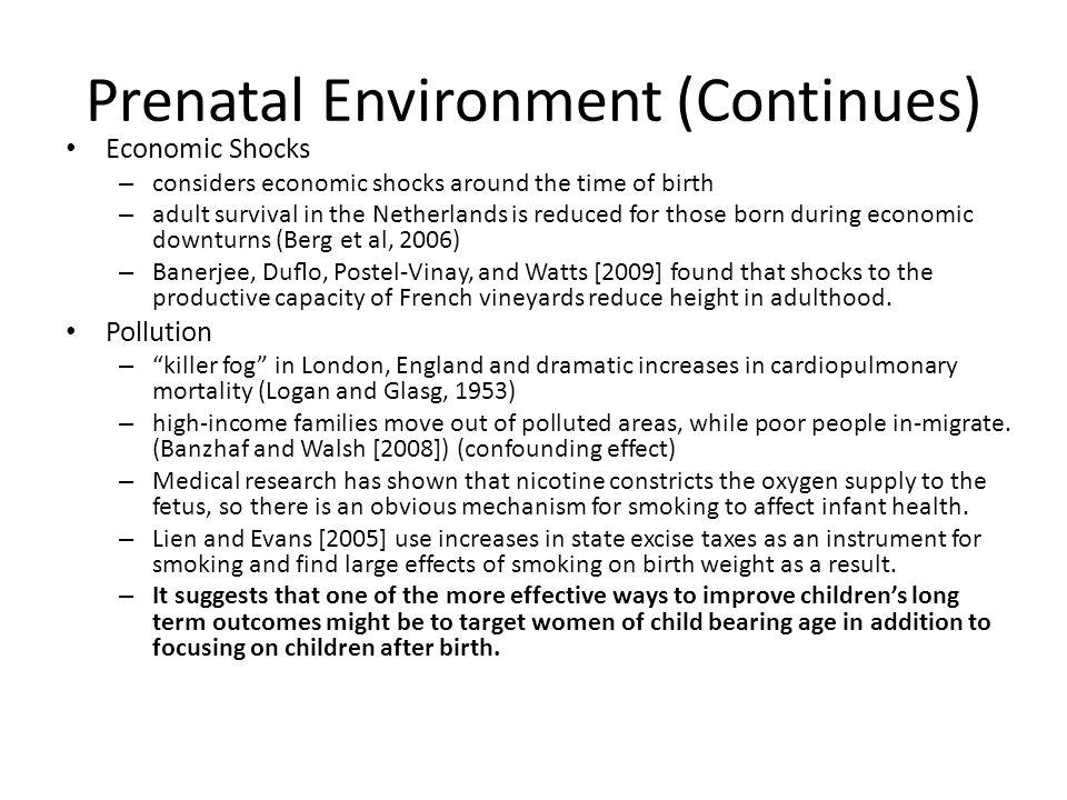 Prenatal Environment (Continues)