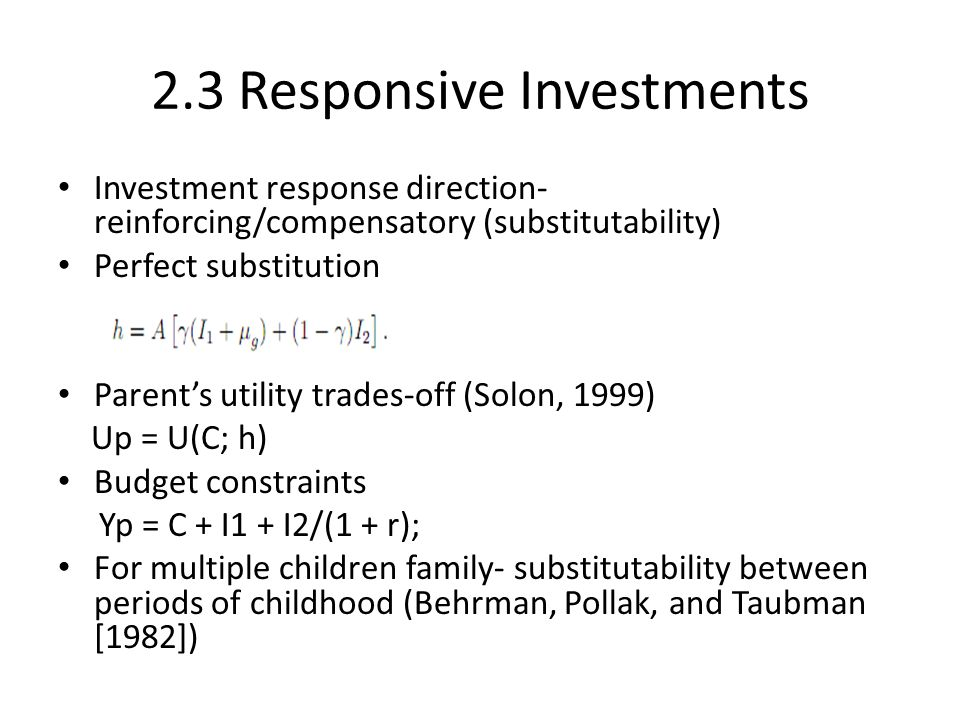 2.3 Responsive Investments