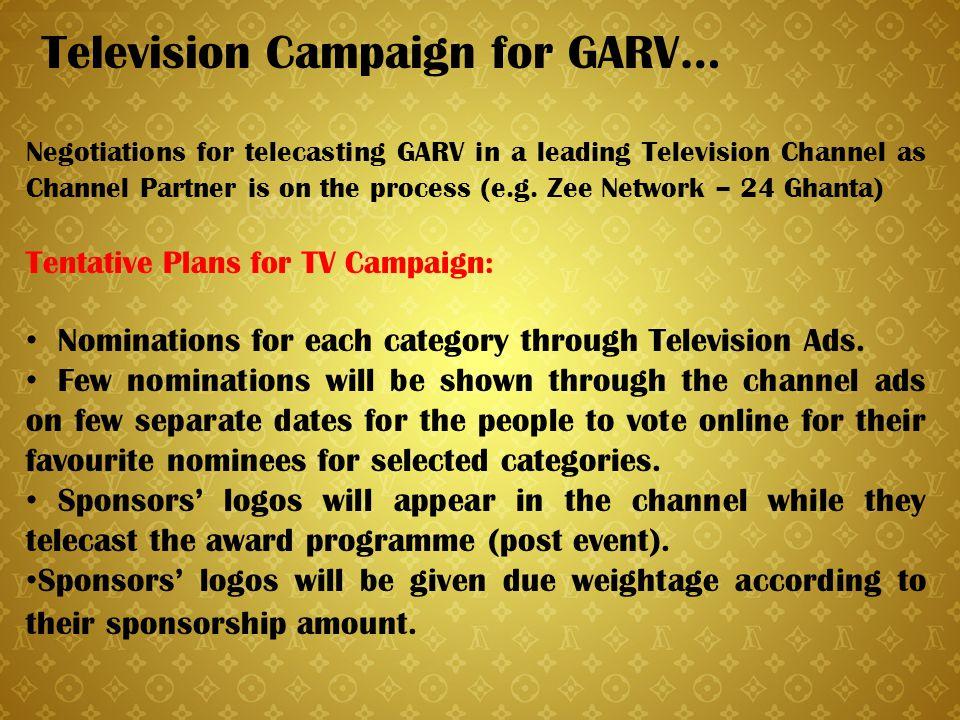 Television Campaign for GARV…