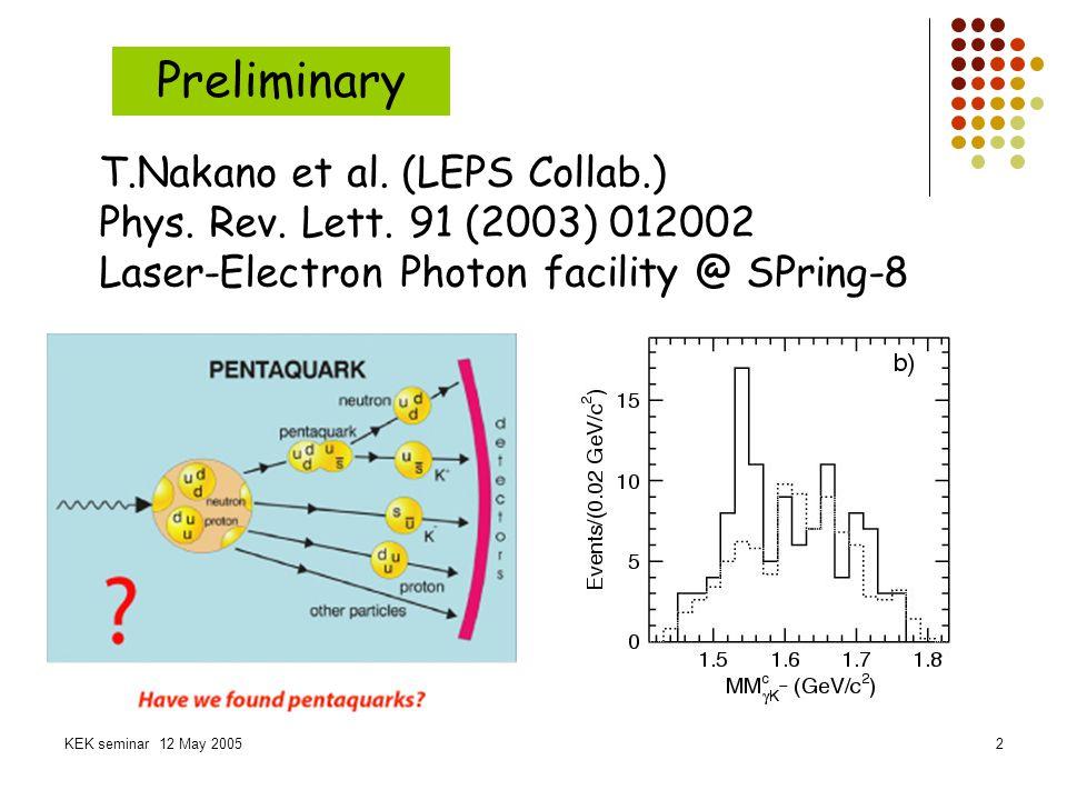 Preliminary T.Nakano et al. (LEPS Collab.)