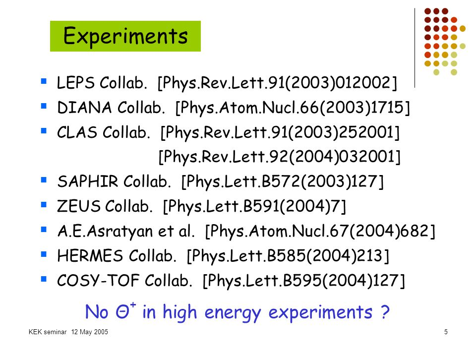 Experiments No Θ+ in high energy experiments