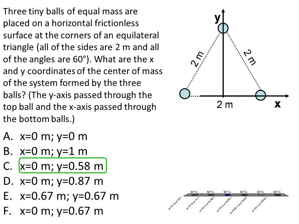x=0 m; y=0 m x=0 m; y=1 m x=0 m; y=0.58 m x=0 m; y=0.87 m