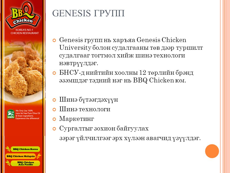 Genesis групп
