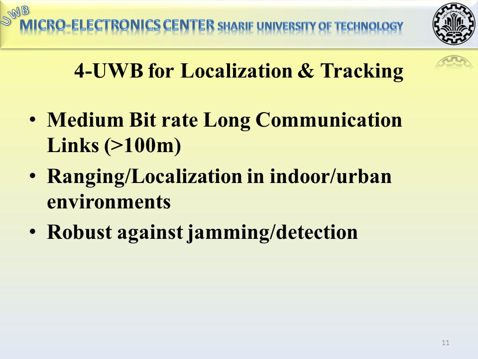 4-UWB for Localization & Tracking