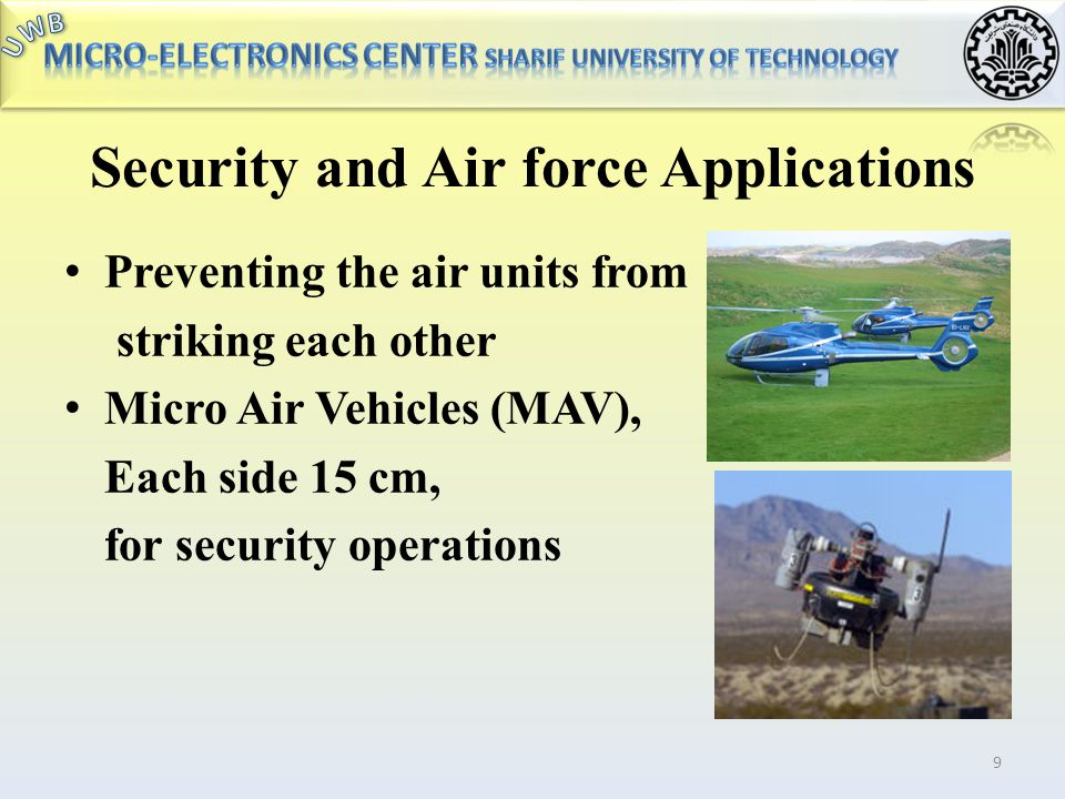 Security and Air force Applications