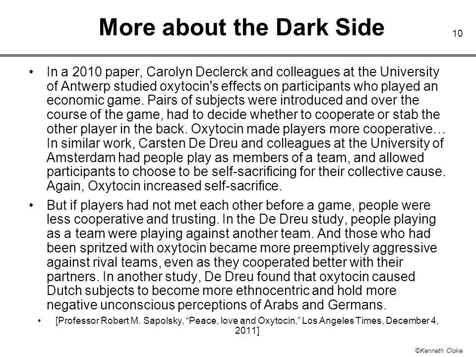 More about the Dark Side